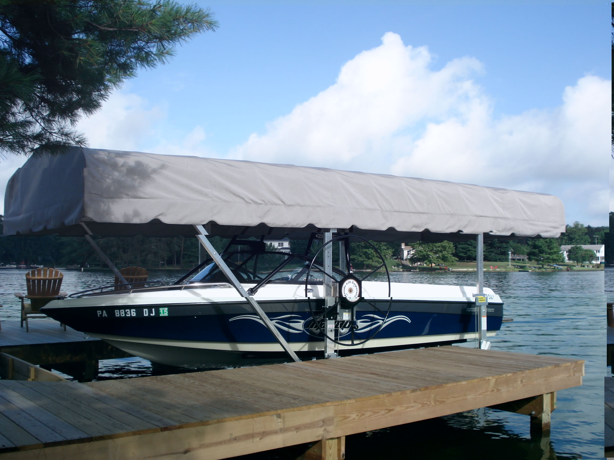 Canopy frames are available in the following lengths 21u0027 24u0027 26u0027 28u0027 and 30u0027. Lakeside recommends 2u0027 longer than the longest point on your boat (IE. ... & Lakeside Lift